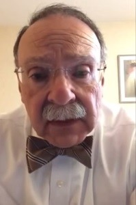 MU Chancellor R. Bowen Loftin spoke about the incident of racial slurs being shouted in a video message from overseas.