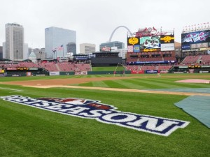 The Cardinals will host game one of the NLDS on Friday 10/9 (file photo)