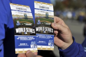 2014 World Series tickets (file photo http://2015mlbgame.loveitsomuch.com)