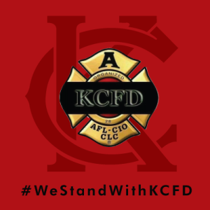 The Kansas City Fire Department posted this image on its website and social media after the deaths of two firefighters Monday night.