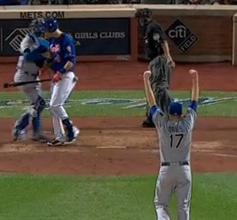 Wade Davis in a non-save situation, finishes off Game 5
