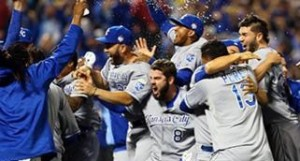 The Royals celebrate their 2015 World Series