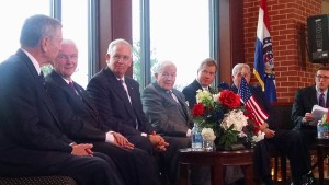 (from left) John Ashcroft, Bob Holden, Governor Jay Nixon, Kit Bond, Matt Blunt and Roger Wilson