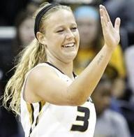 Sophie Cunningham leads the SEC in scoring (photo/Mizzou Athletics)