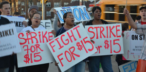 Workers rally for higher wages and union rights