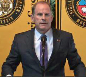 Tim Wolfe announces his resignation as University of Missouri president.