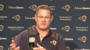 Frank Cignetti, out as Rams' offensive coordinator.