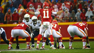 Alex Smith threw his first interception in 312 pass attempts. (photo/KCChiefs.com)