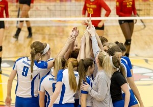 Rockhurst volleyball with their highest ranking (photo/Rockhurst athletics)
