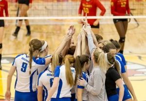 Rockhurst volleyball with their highest ranking (photo/Rockhurst athletics)