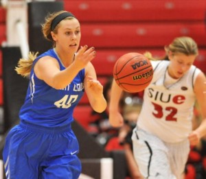 Sadie Stipanovich (40) passes to a teammate. (photo/SLUBillikens.com)