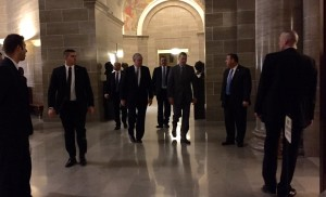 Gov. Dayton enters chamber for State of State address