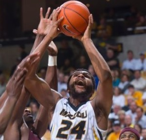 It was a rough night for Kevin Puryear.  He was just 1-of-5 from the field (photo/Mizzou)