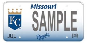The new Royals themed Missouri license plate