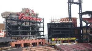 New video boards are coming to Busch Stadium in time for the Home Opener on April 11 (photo/MLB.com)