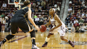 Morgan William scored 17 points, 11 in the third quarter for Mississippi State (photo, Kelly Price-HailState.com)