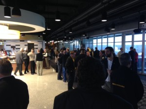 Mizzou fans gather in the east end of Memorial Stadium for the Tigers National Signing Day reception