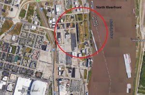 The North Riverfront area could be home to an MLS team (photo/Google maps)