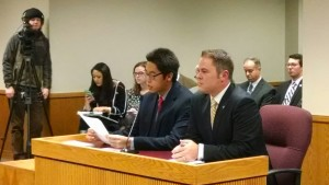 From left, Tim Tai and Rep. Elijah Haahr