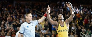 J'den Cox is national champ for the second time in three years (photo/Mizzou Athletics)