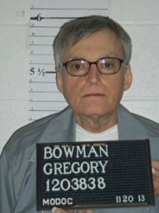 Gregory Bowman (photo courtesy; Missouri Department of Corrections)