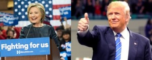 Hillary Clinton and Donald Trump appear to have won very, very narrow victories in Missouri's Presidential Preference Primary (photos courtesy of their campaign websites)
