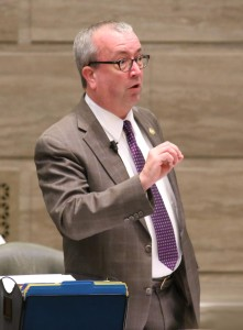 Senate Minority Leader Joe Keaveny proposed numerous changes to the Senate Journal to reflect rules he said were broken during debate of SJR 39. (photo courtesy; Harrison Sweazea, Missouri Senate Communications)