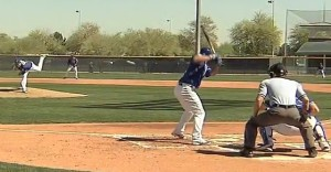 The Royals played a three inning practice game on Monday.