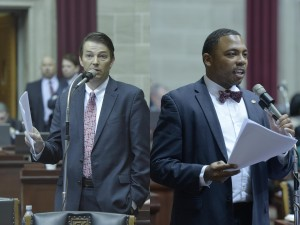 House Speaker Todd Richardson (left) and Representative Randy Dunn (right).