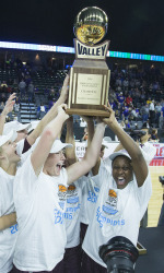 Missouri State Lady Bears vs. Northern Iowa Panthers in the championship game of the MVC tournament on Sunday, March 13, 2016 at the iWireless Center in Moline, Ill.