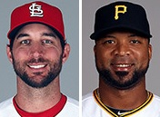 Adam Wainwright got a no-decision against the Pirates in his first ever Opening Day start in 2009 (photos/MLB)