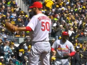 Adam Wainwright didn't throw much in spring training.  Wainwright looked rusty but the plan is save him for September and October