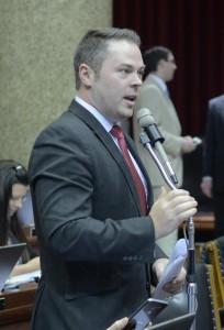 Representative Elijah Haahr (photo courtesy; Tim Bommel, Missouri House Communications)