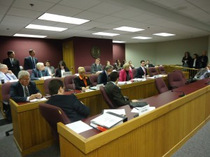 The Missouri House Committee on Emerging Issues voted 6-6 on a proposed constitutional amendment dealing with same-sex marriage objectors, so the measure failed. (photo; Mike Lear, Missourinet)