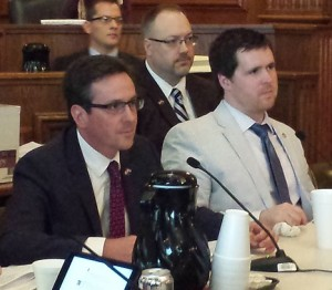 Senate Budget Committee Chairman Kurt Schaefer (left) and House Budget Committee Vice-Chairman Scott Fitzpatrick (right)