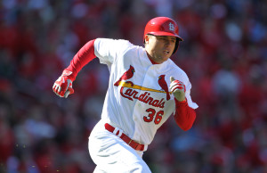 St. Louis Cardinals Aledmys Diaz.    Photo by Bill Greenblatt/UPI