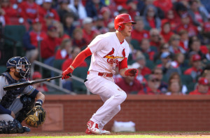 St. Louis Cardinals Jeremy Hazelbaker \ Photo by Bill Greenblatt/UPI