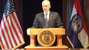 Missouri Governor Jay Nixon (photo, Mike Lear, Missourinet)