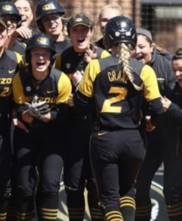 Emily Crane (2) will try to help lead the Tigers to Super Regionals (photo/Mizzou Athletics)