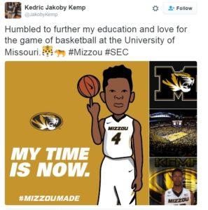 Jakoby Kemp's Twitter feed @JakobyKemp