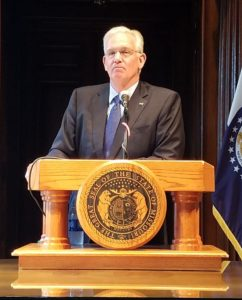 Governor Jay Nixon (photo; Mike Lear, Missourinet)