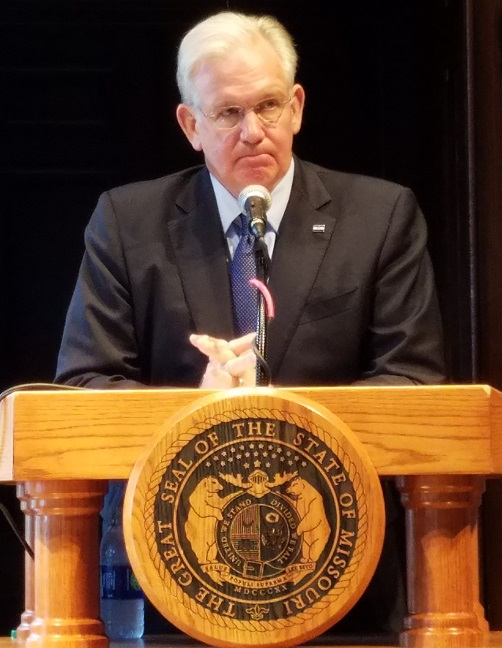 Governor Jay Nixon (photo: Mike Lear, Missourinet)