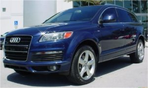 The FBI says Mitchell was last seen driving a blue 2007 Audi Q7 SUV similar to this one. (photo courtesy; FBI)