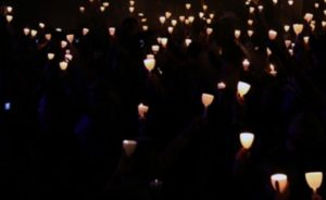 A candlelight vigil (photo courtesy; FBI)
