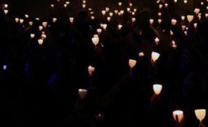 A candlelight vigil (photo courtesy; FBI)