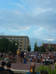 Musicians open the vigil at Boone County Courthouse in honor of the victims of the Orlando massacre. Photo courtesy of KSSZ.