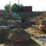 An overview of one of the dig locations within the NGA site in North St. Louis.  (photo courtesy; Joe Harl)