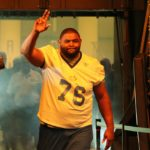 Orlando Pace is introduced to the crowd.  UPI/Bill Greenblatt