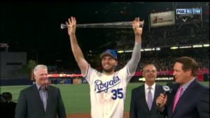 Eric Hosmer receives his MVP Award