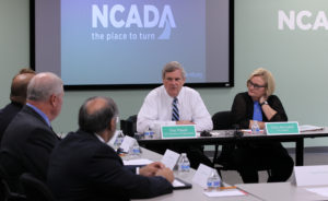 U.S. Secretary of Agriculture Tom Vilsack and Sen. Claire McCaskill (D-Mo) conduct a round table discussion with local health professionals on efforts to combat the nation's opioid epidemic, while visiting the offices of the National Council on Alcoholism abd Drug Abuse, in Olivette, Missouri on July 21, 2016. McCaskill is hosting a series of events across Missouri this week to highlight recent federal legislation she successfully shaped to open up resources to local and county Prescription Drug Monitoring Programs (PDMPs). Photo by Bill Greenblatt/UPI